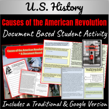 Causes of the American Revolution DBQ Activity: Taking up Arms