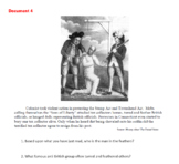 Causes of the American Revolution: DBQ Bundle (Graphic Organizer included)