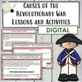 Causes of the American Revolution   Digital Activities
