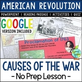 Causes of the American Revolution; Distance Learning; Digi