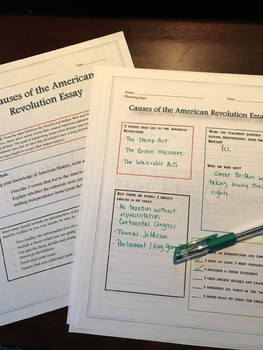 Causes of the American Revolution Essay-differentiated