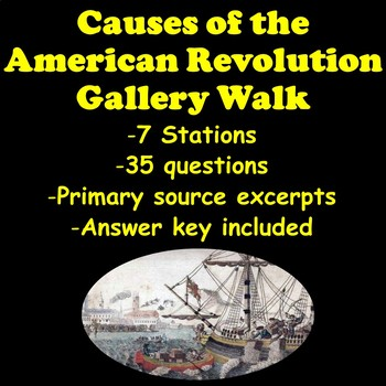 Causes of the American Revolution Gallery Walk