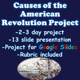 American Revolution Causes of the American Revolution Project