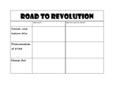 Causes of the American Revolution Handouts