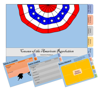 Causes of the American Revolution Interactive Notebook