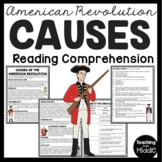 Causes of the American Revolution Reading Comprehension Worksheet