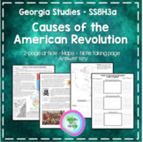 Causes of the American Revolution SS8H3a GSE