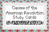 Causes of the American Revolution Study Cards