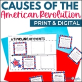 Causes of the American Revolution Timeline - Print & Digit