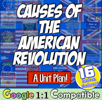 American Revolution Causes: 16 Engaging Lessons for the American Revolution!
