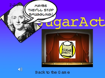 Causes of the American Revolution War Jeopardy PowerPoint Smartboard