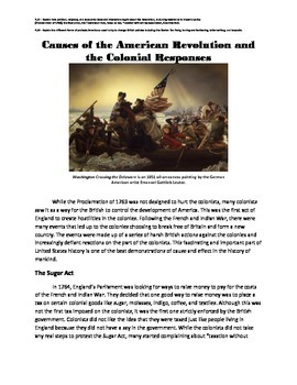 Causes of the American Revolution and Colonial Responses