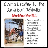 Causes of the American Revolution for ELLs