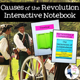 Causes of the American Revolutionary War Interactive Notebook