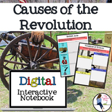 Causes of the American Revolutionary War Interactive Notebook for Google Drive