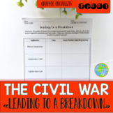 Causes of the Civil War Activity FREEBIE