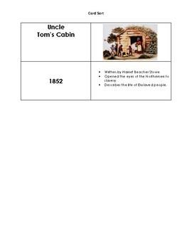 Causes of the Civil War Card Sort