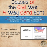 Causes of the Civil War Card Sort