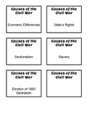 Causes of the Civil War- Card Sort