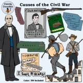 Causes of the Civil War Clip Art