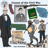 Causes of the Civil War Clip Art by Dandy Doodles