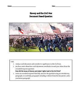 Causes of the Civil War DBW