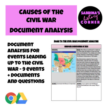 Causes of the Civil War Document Analysis