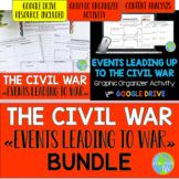 Causes of the Civil War Graphic Organizer Activity and Presentation BUNDLE