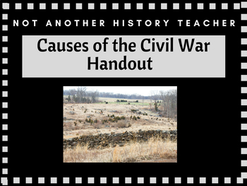 Causes of the Civil War Handout