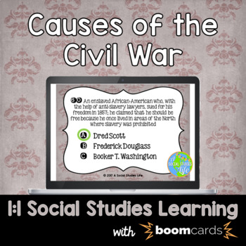 Causes of the Civil War Interactive Task Cards