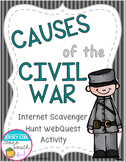 Causes of the Civil War Internet Scavenger Hunt WebQuest Activity