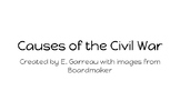 Causes of the Civil War Lesson