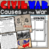 Causes of the Civil War Lesson and Doodlenotes SS4H5b