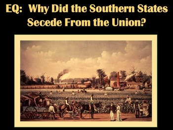 Causes of the Civil War Lesson and Resources