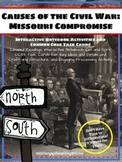 Causes of the Civil War: Missouri Compromise Readings and Interactive Notebook