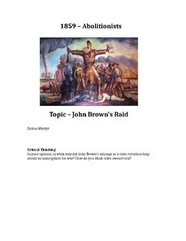 Causes of the Civil War Path to War Journal