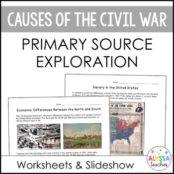 Primary source analysis teaching resources teachers pay teachers causes of the civil war primary source analysis fandeluxe Choice Image
