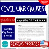 The Civil War   Causes of the War Close Reading #DistanceLearningTpT