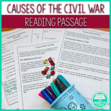 Causes of the Civil War: Reading Passages and Comprehension Questions