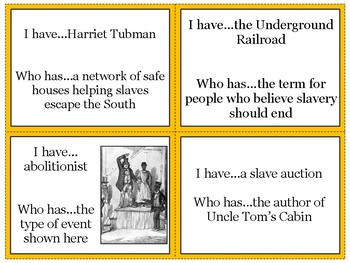 Causes of the Civil War Review Game