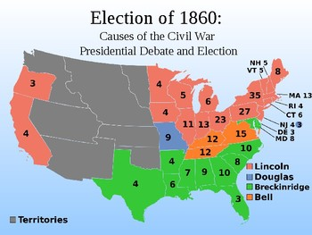 causes of the civil war simulation activity presidential election