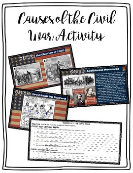 Causes of the Civil War Stations Activity