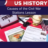Causes of the Civil War - 5 Stations Lesson