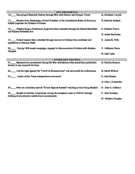 Causes of the Civil War: Vocabulary Assessment