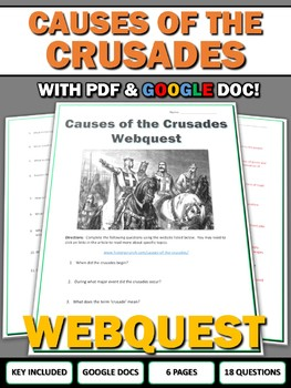 Causes of the Crusades - Webquest with Key (Google Doc Included)