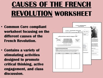 Causes of the French Revolution GlobalWorld History Common Core