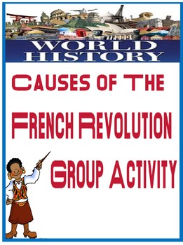 Causes of the French Revolution Activity with 7 printable cards and lesson plan