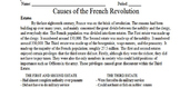 Causes of the French Revolution Primary and Secondary Sour