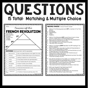 Causes of the French Revolution, article, matching, chart, Louis XVI