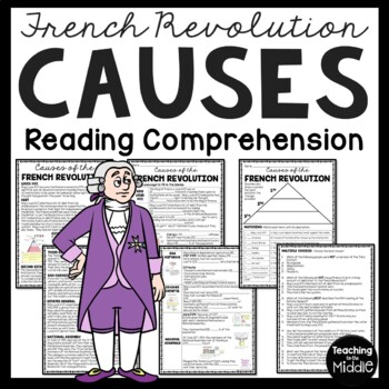 Causes of the French Revolution, article, matching, chart,